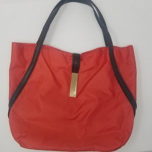Kenneth Cole | Red Tote Shoulder Bag Black Straps